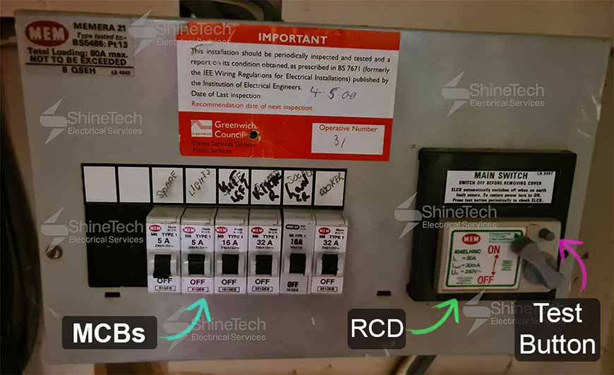 Mem Lever Rcd Main Switch
