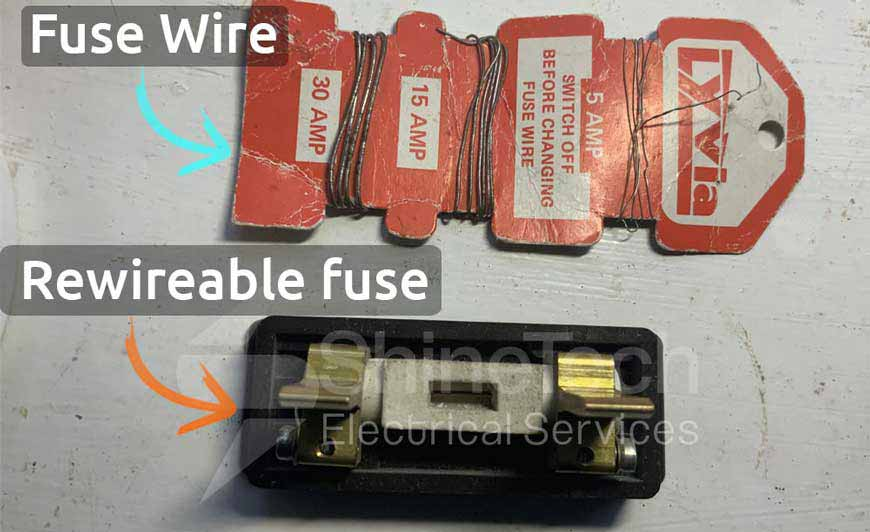 Rewireable Fuse And Fuse Wire